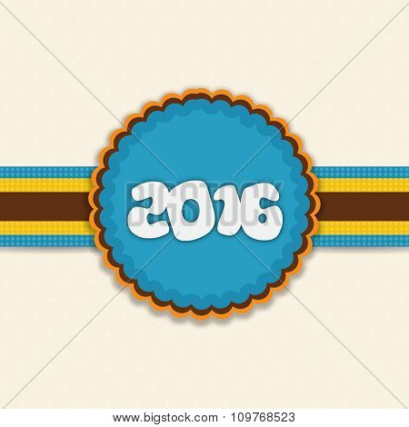 Elegant creative greeting card design with stylish text 2016 for Happy New Year celebration.