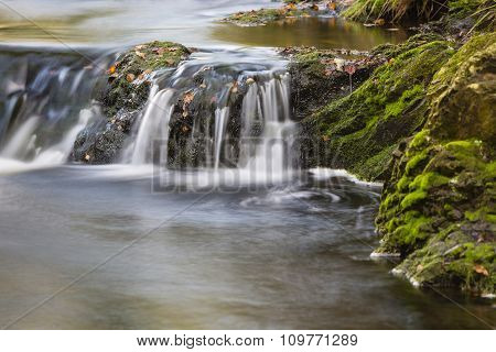 Autumn Waterfall Long Exposure, Belgium