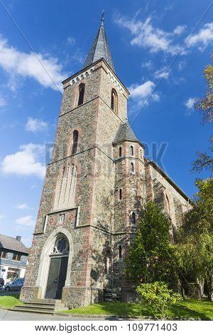 St. Nikolaus church in Einruhr in the Eifel Germany poster