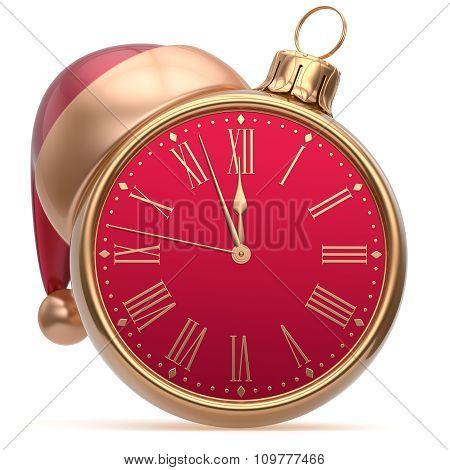 Christmas Ball New Year's Eve Alarm Clock Bauble Decoration