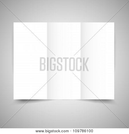 Blank tri-fold paper brochure