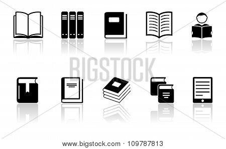 black book icons set