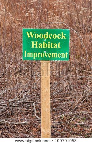 Woodcock Habitat Sign