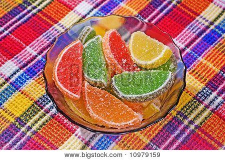 Citric Segments In Sugar