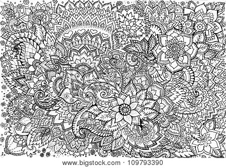 Drawing Background Floral Patterns