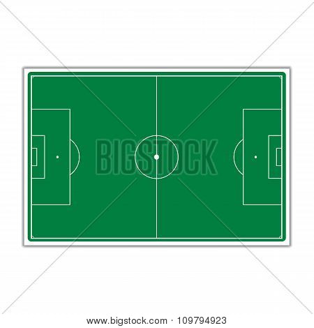 A Field For Soccer, Vector Illustration.