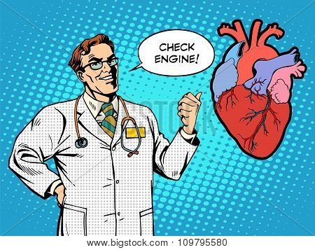 Check engine doctor medicine heart health