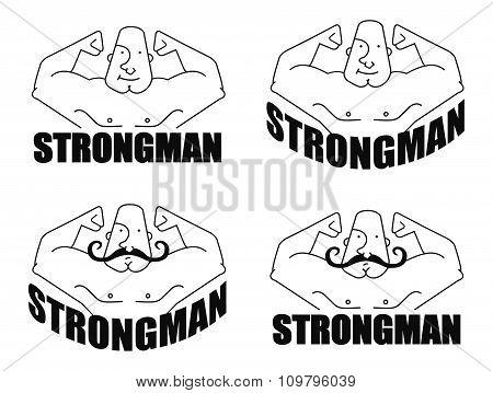 Strongman linear emblem