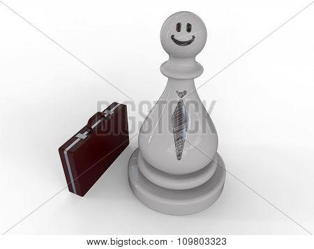 Businessman On Chess Piece