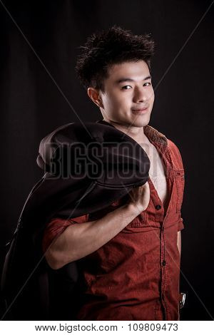 Portrait Of Asian Young Man