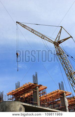 Crane Elements On Building