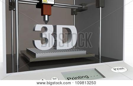 The 3D Printer Prints A Word - 3D