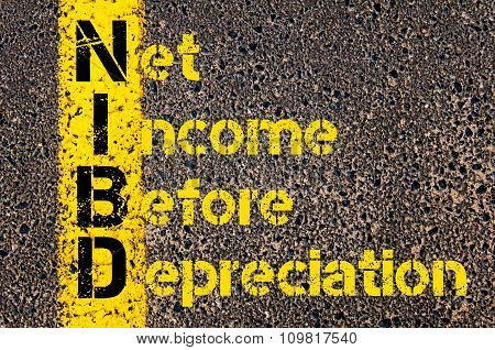 Business Acronym Nibd As Net Income Before Depreciation