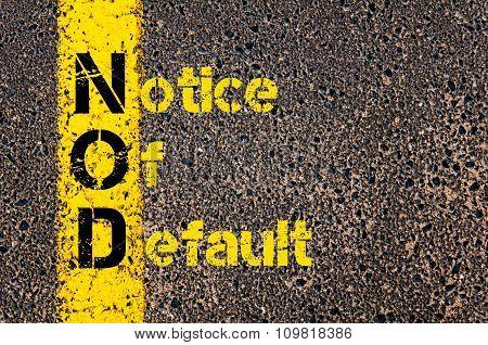 Business Acronym Nod As Notice Of Default