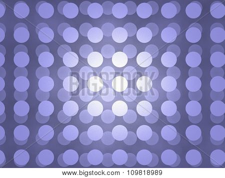 Abstract Illustration of Blue Discs Pattern