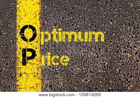 Accounting Business Acronym Op Optimum Price