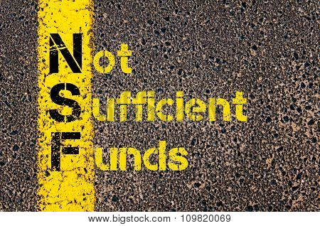 Business Acronym Nsf As Non Sufficient Funds