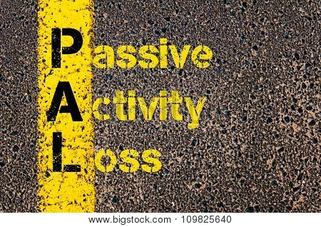 Accounting Business Acronym Pal Passive Activity Loss