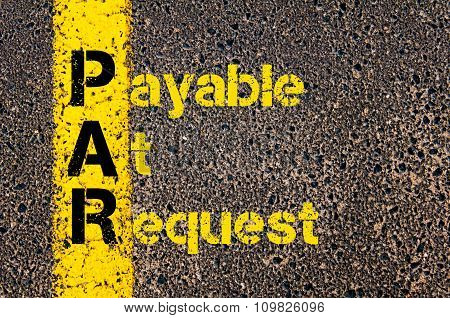 Accounting Business Acronym Par Payable At Request