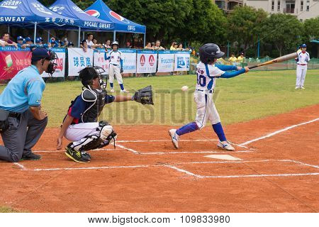 Zhongshan Panda Cup, Zhongshan, Guangdong - July 23:batter Of Team Zhongshan Tongmao Primary School