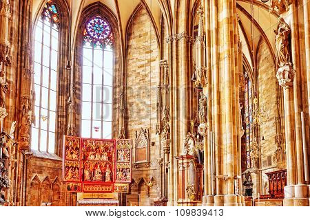 Vienna, Austria-september 10, 2015: Interior St. Stephen's Cathedral(stephansdom) The Mother Church