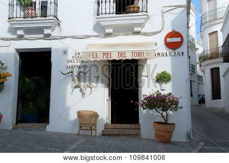 Leather goods shop, Vejer de la Frontera.