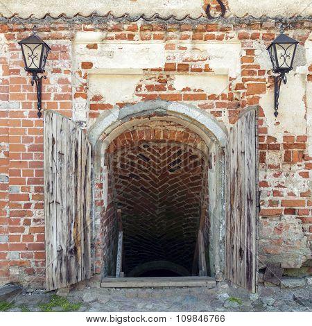 Old Opened Dungeon Doors