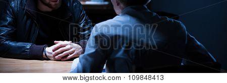 Interrogation Of Suspicious Man