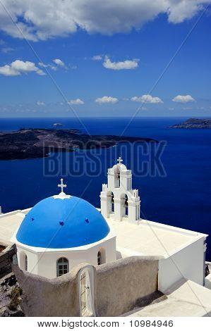 Greek Island Church, Santorini