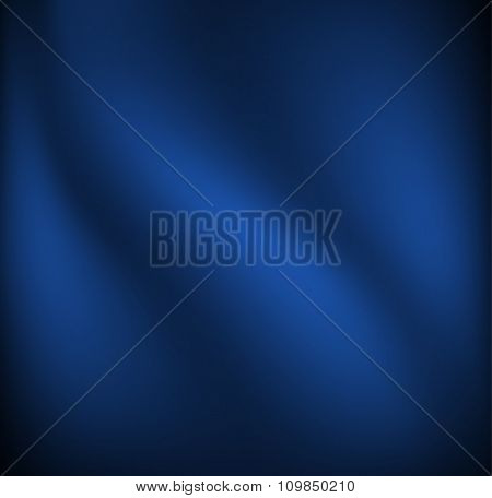 Waving blue cloth