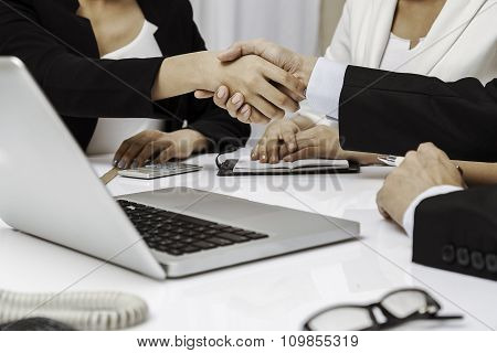 business people having handshake