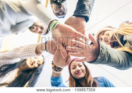 Group Of People Supporting Each Others