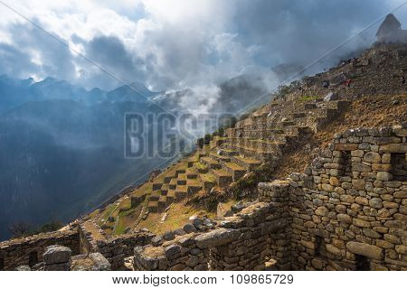 Machu Picchu, Unesco World Heritage Site. One Of The New Seven Wonders Of The World.