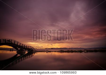 Bridge on the Ionian island of Lefkas Greece