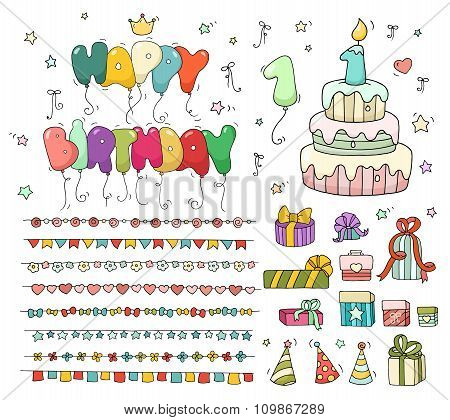 Cute Colorful Birthday Set