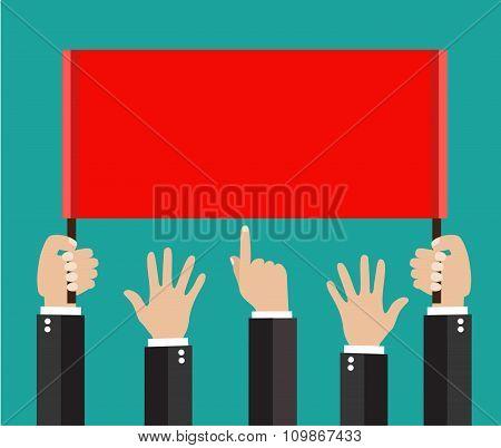 Businessmans hands, gestures.