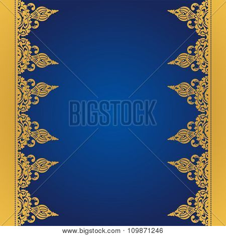 Vector blue background in east style