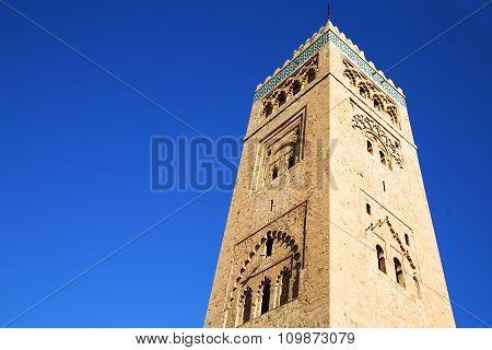History   Maroc   Minaret Religion And  Blue     Sky