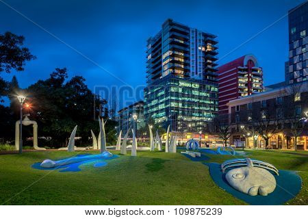 Hindmarsh Square At Night, Adelaide
