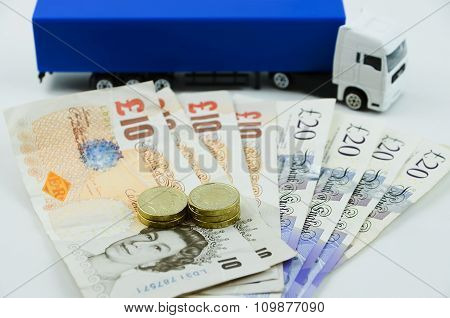 British Pounds And Big Truck..