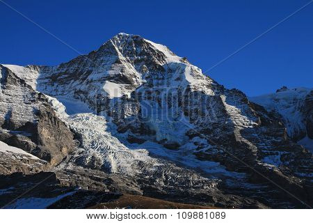 Famous Mountain Monch And Glacier
