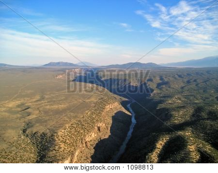 Aerial View Of The Rio Grande Gorge