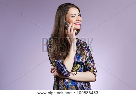 Young Woman Having A Nice Chat