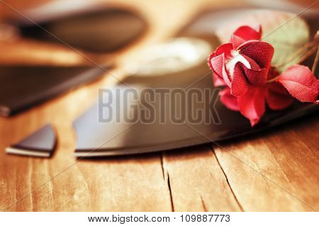 Red Flower On A Broken Record