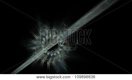 Alien Energy Beam Blasting Through Armor