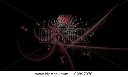 Colorful Abstract Fractal Spiral