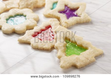 Stain Glass Christmas Cookies