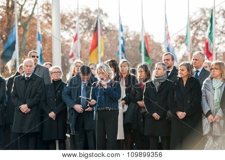 Minute Of Silence In Tribute To The Victims Of Paris At The Council Of Europe