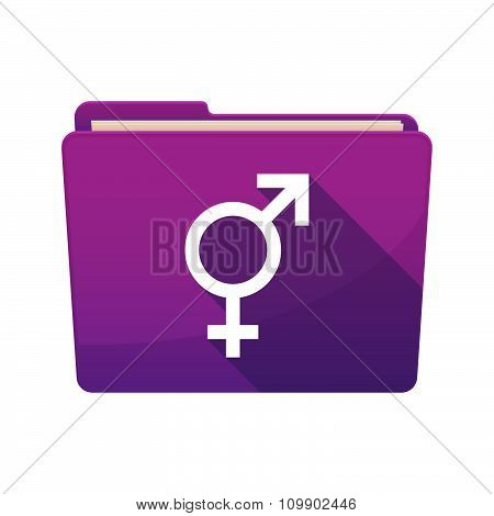 Long Shadow  Binder With  A Transgender Symbol