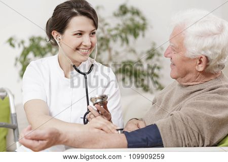 Old Man And Young Nurse